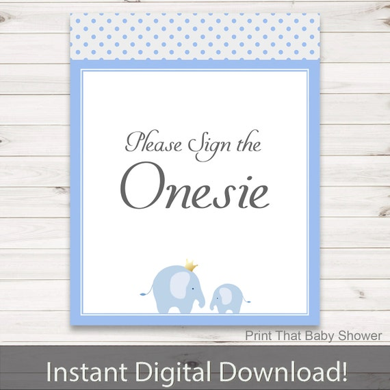 baby shower sign the onesie sign baby blue dots baby shower blue