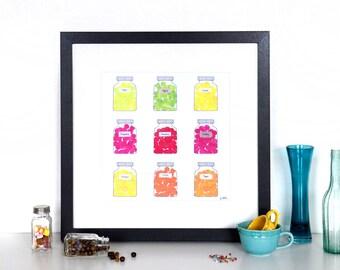 SALE! Sweet Jars Collage Print