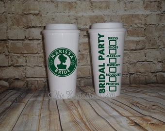 Insulated Bridal Party Coffee Cup - personlized