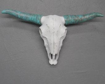 Cow Skull/Bohemian/Boho/Faux Taxidermy/Skull/Longhorn Skull/Steer Skull/Skull/Faux Cow Skull/Painted Skull/Rustic/SSLID0163