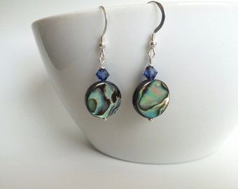 Abalone Earrings - Abalone Dangles - Shell Earrings - Shell Dangles - Pua Earrings - Abalone Drop Earrings - Teen Gift - Valentines Gift