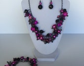 Pink and Black Matching Cluster Set