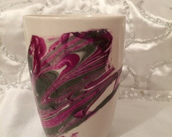 Unique Marbled Coffee Mug, your own piece of art
