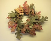 Fall Wreath with Curled Copper Wire Accents