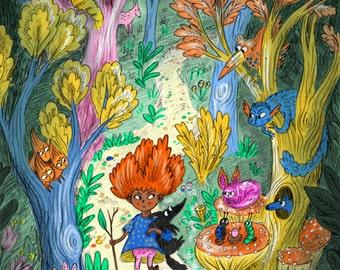 Alien Wonderland Print