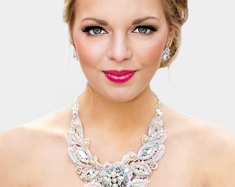 Florence Bridal Lace Necklace