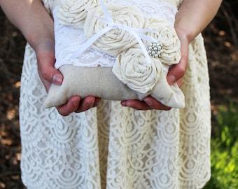 Ring Bearer Pillow, Shabby Chic Ring Bearer Pillow, Wedding Ring Pillow, Rustic Ring Bearer Pillow, Ring Bearer, Rustic Ring Bearer Pillow,
