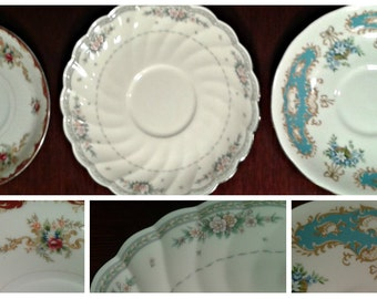 Vintage Saucers Replacement Tea Saucers Bone China Queen Anne, Harmony House Wembley, Noritake Knottinghill Saucers