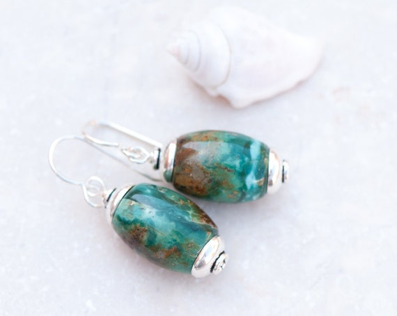 real turquoise earrings turquoise earrings real turquoise silver earrings 2573
