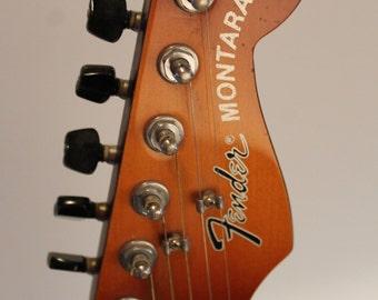 90s 1990s Vintage 1990 - 1992 Fender Montara Sunburst Acoustic / Electric Guitar Rare Collectible California Series