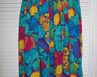 Skirt 8 - 10 , Jaeger Made in Great Britain Maxi Floral Skirt. Resort Ready! Size 8 - 10