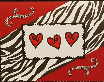 Zebra striped blank card
