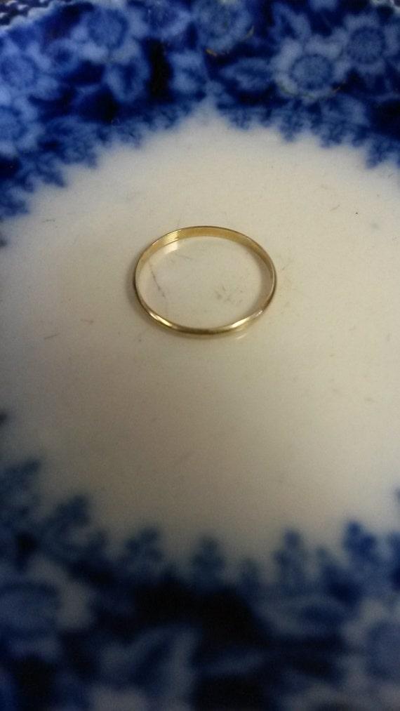 Size 0 5 Estate 10k Yellow Gold Baby Ring Band Newborn Baptism