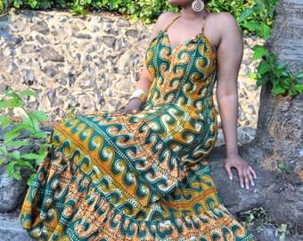 New! Amama halter neck maxi dress