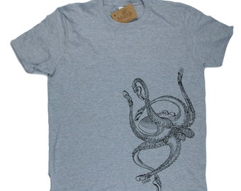 Mens TShirt - Ballet Octopus TShirt - Sea Creature Tees - Geek TShirts - Nerdy Tees - Mens Funny T Shirt - Funny Tees - Boyfriend Tshirts
