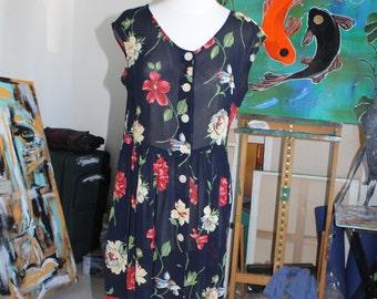 Vintage sheer button up dress