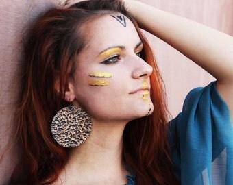 Boho Copper earrings Gypsy earrings Boho dangle earrings Gypsy Boho earrings Dangle tribal earrings Bohemian earrings Bohemian jewelry Boho