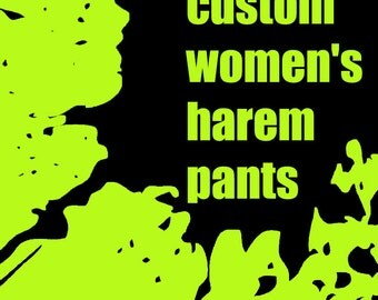 Women's Harem Pants / Women's Yoga Pants / Drop Crotch Pants / Maternity Pants / Loose Pants / Jogger Pants / Custom Made