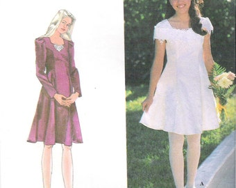 Uncut GIRL'S DRESS  Girl's Size 12-14  Jessica McClintock Simplicity Sewing Pattern  9654