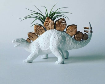 Gold Dinosaur Planter // Mini Planter / Air Plants