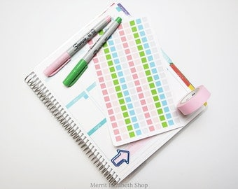 Mini Squares Sticker Sheet : Spring Fling Theme Planner Stickers