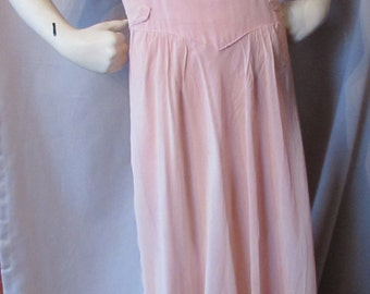 SALE! Prom Dress Dance Dress Party Dress 1940 Evening Dress 1950 Party Dress Pink Nylon Vintage Fashions