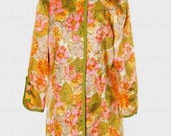 Vintage 1960s Mandarin Collar Jacket / Free U.S. Shipping