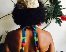Vintage 70s Floral Hat