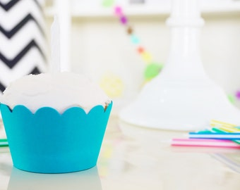 TURQUOISE Cupcake Wrappers - Set of 24