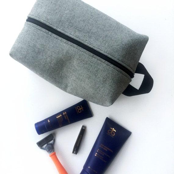 dopp kit husband gift mens toiletry bag beard grooming. Black Bedroom Furniture Sets. Home Design Ideas
