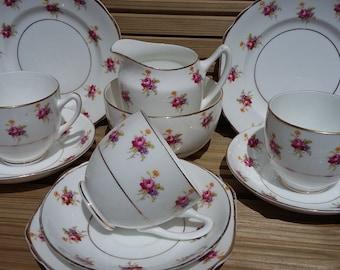 Vintage Trio x 3 + Milk and sugar by Diamond China
