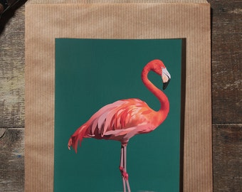 The Flamingo map illustration postal