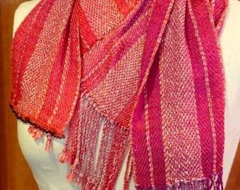 Handwoven Silk V-Scarf