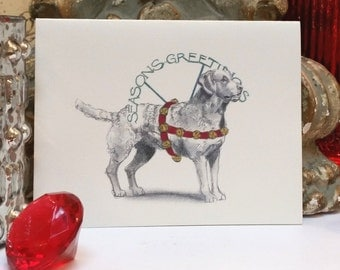 Chesapeake Bay Retriever Holiday Card