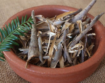 30g bag of Dried Sacred Yew Tree Bark - Winter Solstice / Connect with Ancestors (witch, wicca, pagan)