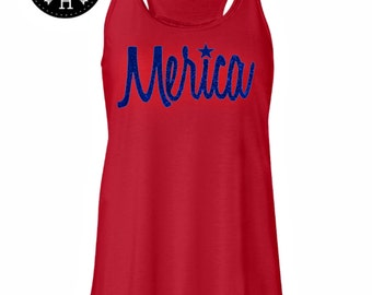 4th of july Tank top Merica Tank top Fourth of July America Shirt Merica Blouse America Clothing Merica Clothing Merica tank FREE SHIPPING