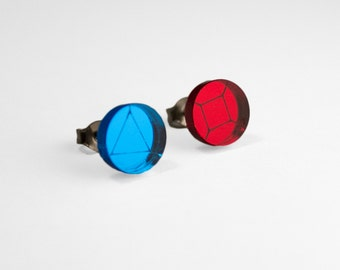 Steven Universe - Ruby and Sapphire Stud Earrings