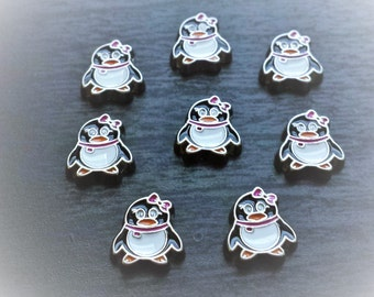 Girl Penguin Floating Charm for Floating Lockets-Gift Idea