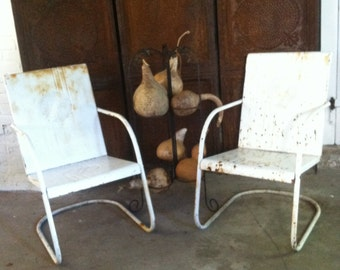 Garden Furniture Chairs vintage metal patio furniture | etsy