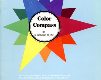 Color Compass by M. Grumbacher, Inc | Color Theory | Art Reference Book