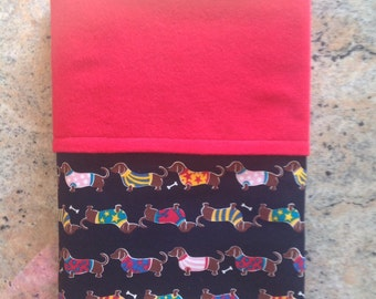 PERSONALIZED DACHSHUND BLANKET, dog blanket, Large blanket, red dog blanket, large dog blanket, dachshunds, puppy blanket