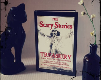 Vintage Hardcover The Scary Stories Treasury: Three Books to Chill Your Bones, Alvin Schwartz
