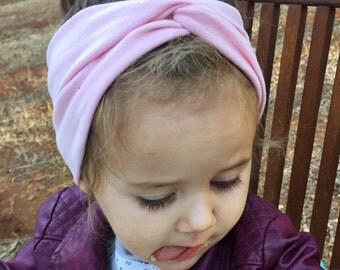 Solid Ballet Pink turban