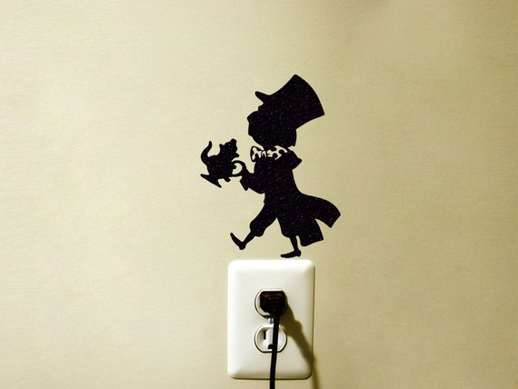 mad hatter velvet wall sticker the hatter vinyl wall decal