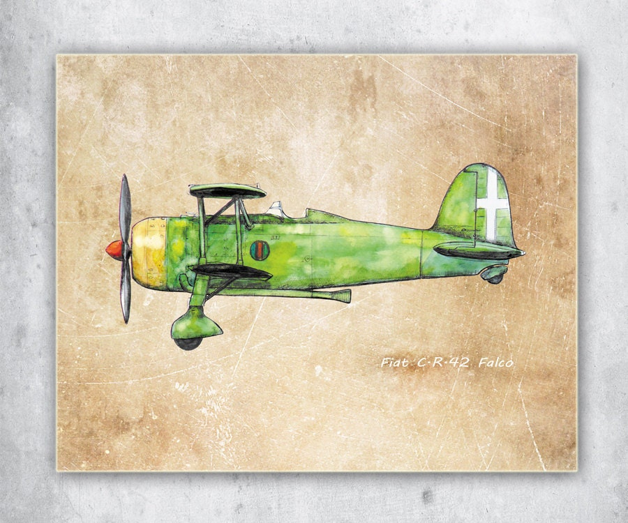 Airplane decor Old paper wall art Vintage airplane prints