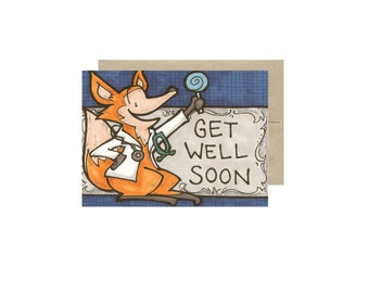 Get Well Soon - Card Blank Inside