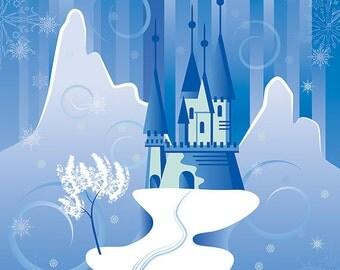 Blue Chill Castle of the Duchy of Frozen Backdrop (FD5106)