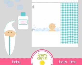 Baby Bath Clipart Etsy