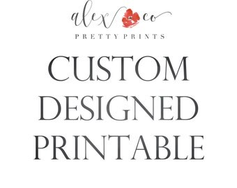 Custom Printable, Personalized Printable, Custom Quote, Custom Wall Art, Alex and Co