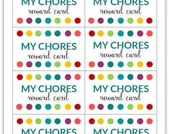 PDF: My Chores Punch Card | Reward Card for Kids